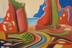 "Abergaveny,  Cyril Seme,  Oil on Canvas,  36""x48"""