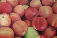 "Apples, Cyril Seme,  Acrylic on Canvas,  24""x36"""