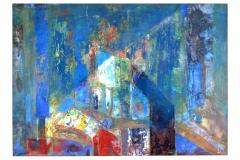 Artist Studio,  Oil on Canvas,  70cm x 50cm