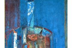 Building II, Oil on Canvas, 60cm x 60cm