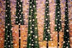 "Christmas, Enamel on Canvas,  40""x30"""