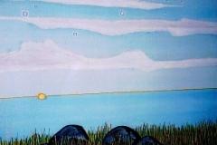 "Desert Snow,  Enamel on Canvas,  40""x30"""