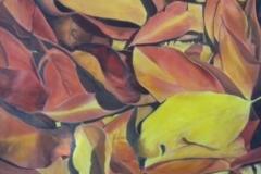 """Fall Leaves,  Cyril Seme,  40""""x40"""""""