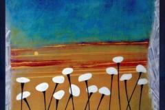 """Fifteen Flowers,  Enamel on Canvas,  40""""x30"""""""