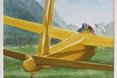 "First Flight,  Cyril Seme,  Watercolours,  24""x30"""