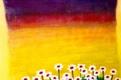 """Forty Daisies,  Enamel on Canvas,   40""""x30"""""""