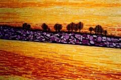 "Fraser River,  Enamel on Canvas,  40""x30"""