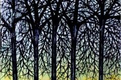"Grove,  Enamel on Canvas,  40""x30"""