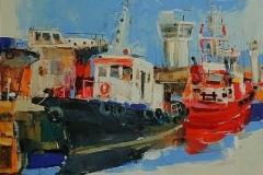 Harbour I,  Oil on Canvas,  60cm x 80cm