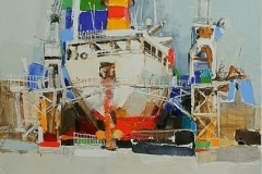 Harbour II,  Oil on Canvas,  80cm x 90cm