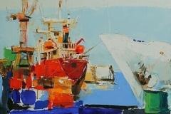 Harbour III,  Oil on Canvas,  80cm x 90cm