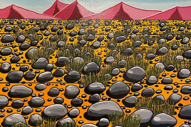 "Desert Rock,  Enamel/Canvas, 40""x30"""