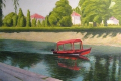 """Lazy Day by the River,  Cyril Seme,  23""""x28"""""""