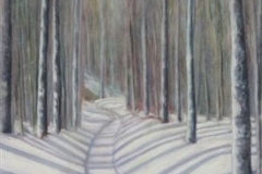 Lynn Canyon Winter Trail, Cyril Seme,  Acrylic on Canvas