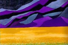 """Mustard Field,  Enamel on Canvas,  40""""x30"""""""