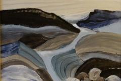 "Northern Landscape,  Roxsane,  Acrylic on Canvas,  12""x16"""