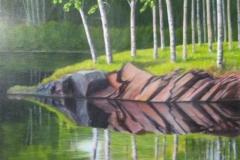 """Questico, Cyril Seme, Acrylic on Canvas,  30""""x30"""""""