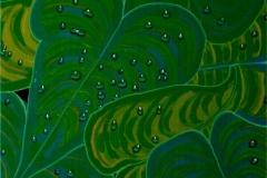 "Raindrops,  Enamel on Canvas,  40""x30"""
