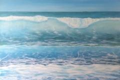 "Rolling Surf Beach,  Cyril Seme,   Acrylic on Canvas,  24""x36"""