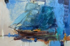 Sailing on the Waves III,  Oil on Canvas,  60cm x 80cm