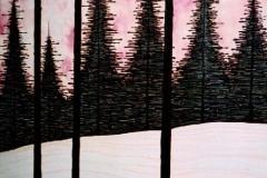 """Shadows,  Enamel on Canvas,  40""""x30"""""""