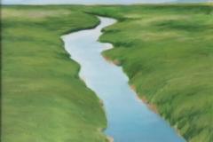 "Solitude,  Cyril Seme,  Acrylic on Canvas,  15""x24"""