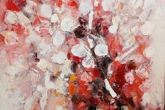 Spring in Saken,  Oil on Canvas,  90cm x 90cm