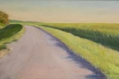 "Steveston Last Light,  Cyril Seme,  Acrylic on Canvas,  12""x23"""