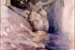 Swan Song I,  Oil on Canvas,  80cm x 80cm