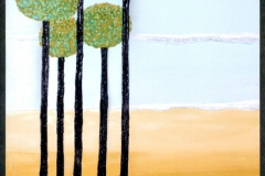 """Tall Trees,  Enamel on Canvas,  40""""x30"""""""