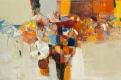 The Beach,  Diptych Oil on Canvas,  70cm x 120cm