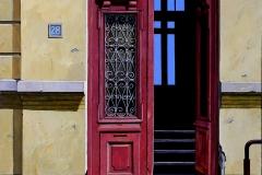 The Opened Door,  Oil on Canvas,  90cm x 90cm
