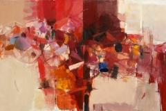 The Shore, Diptych Oil on Canvas,  70cm x 120cm