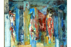 Three Figures,  Oil on Canvas,  60cm x 73cm