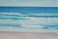 "Tofino Long Beach II,  Cyril Seme,  Acrylic on Canvas,  12""x48"""
