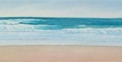"Tofino Surf , Cyril Seme,  Acrylic on Canvas,  12""x48"""