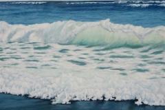 "Tofino Surf II, Cyril Seme,  Acrylic on Canvas,  48""x36"""