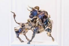 Bull,  Bronze,  58cm x 30cm x 45cm