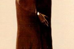 Monk,  Bronze,  46cm x 22cm x 15cm