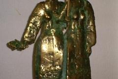 Two Women with Umbrella,  Bronze,  38cm x 17cm x 17cm