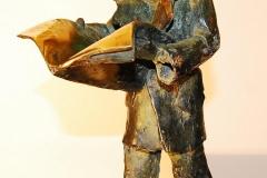 The Newspaper,  Bronze,  35cm x 15cm x 22cm