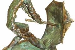 The Wind,  Bronze,  23cm x 24cm x 18cm