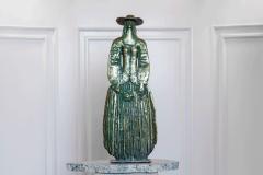 Woman With Flowers,  Bonze/ Marble,  63cm x 46cm x 18cm