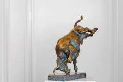 Bull Fight,  Bronze,  16cm x 20cm x 38cm