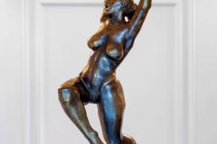 Dancing Woman (Joy),  Bronze/ Marble,  63cm x 43cm x28cm