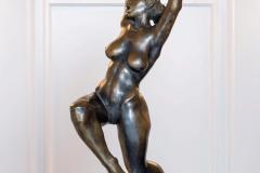 Dancing Woman (Joy),  Bronze/ Marble,  63cm x 43cm x 28cm